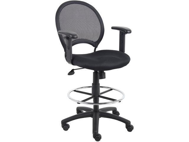 Groovy Mesh Back Drafting Stool With Adjustable Arms Newegg Com Creativecarmelina Interior Chair Design Creativecarmelinacom