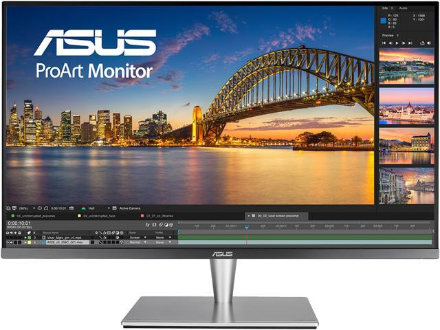 "ASUS ProArt PA32UC 32"" Ultra HD 3840 x 2160 4K Resolution 5ms 2x Thunderbolt 3 DisplayPort 4x HDMI HDR-10 Asus Eye Care Technology Flicker-Free Low Blue Light Built-in Speakers LED Backlit Monitor"