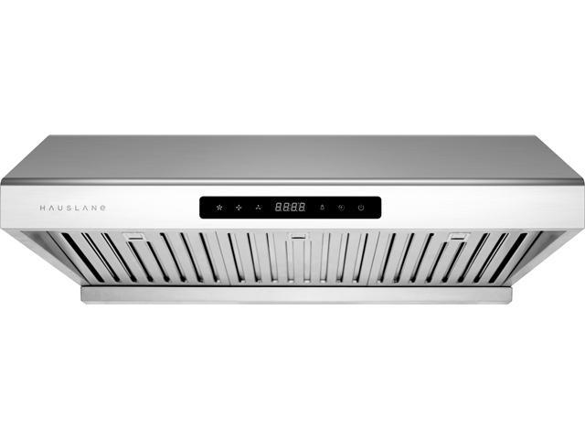 Hauslane Chef Series 30 Under Cabinet Range Hood Ps10 Pro Performance Stainless Steel Touch Screen With High 900 Cfm Airflow Delay Auto Shut Feature Bright Led Lights 3 Speed Settings Newegg Com
