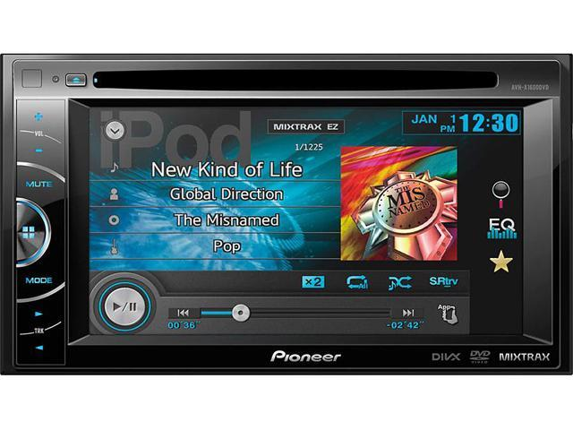 Pioneer AVH-X1600DVD 2-Din Multimedia DVD Receiver with 6.1\