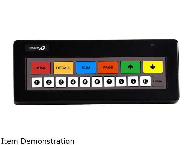 BEMATECH Logic KB1700U-B-BK KB1700 BUMP BAR PROGRAMMABLE KEYPAD, 17 KEY  PROGRAMMABLE , BLACK, USB, LEGEND SHEET B - Newegg com