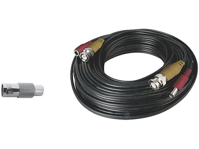 Night Owl Security 60 Feet BNC Video//Power Camera Extension Cable with Adapter