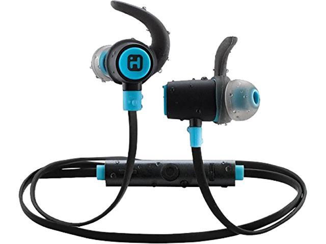 bd6a039a931 iHome iB73BLC Water-Resistant Bluetooth Sport Clip Earbuds with Microphone  (Black/Blue)