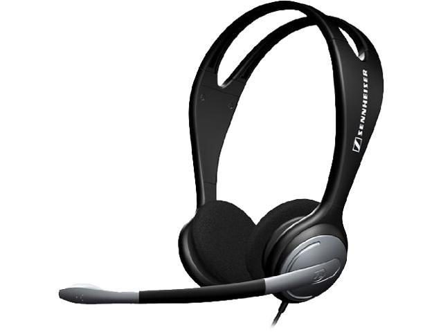 sennheiser pc 131 binaural headset with volume control and microphone mute. Black Bedroom Furniture Sets. Home Design Ideas