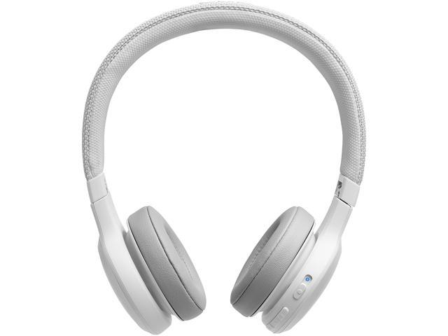 Jbl Live 400bt With Google Alexa Voice Bluetooth On Ear Headphones White Newegg Com
