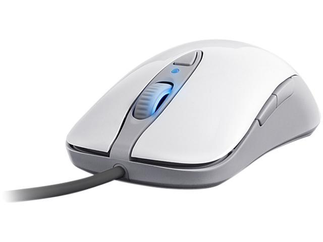 2ca3576c1f6 SteelSeries Sensei [RAW] Mouse - Laser - Cable - Frost Blue, White Gloss