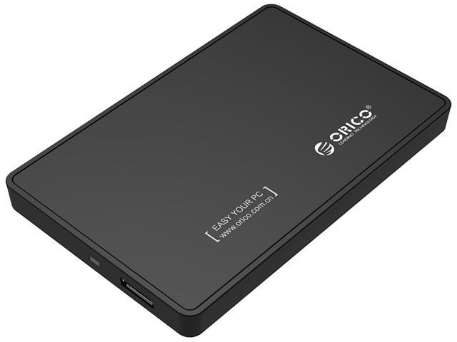 "ORICO Tool Free 2.5 inch USB 3.0 SATA External Hard Drive Enclosure for 2.5"" SATA HDD and SSD Support UASP and  8TB Drive Max -Black"
