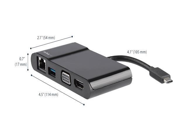 StarTech com DKT30CHV USB C Multiport Adapter - USB Type C to 4K HDMI / USB  3 0 / VGA / Gigabit Ethernet - USB C Hub - USB-C Adapter - Newegg com