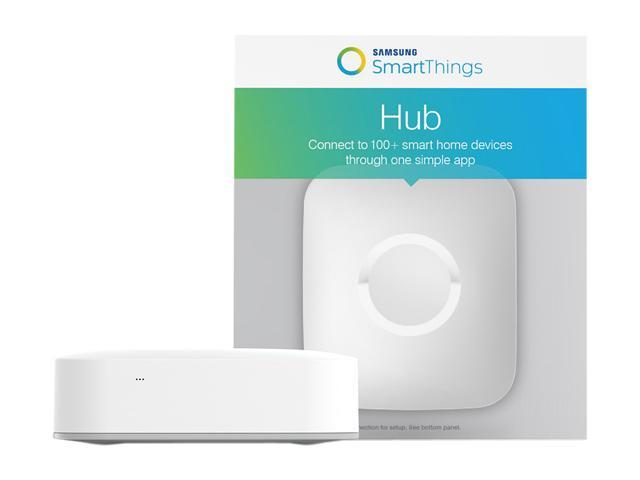 Samsung SmartThings Hub, 2nd Generation  Compatible with Google Home and  Alexa Echo (F-HUB-US-2) - Newegg com