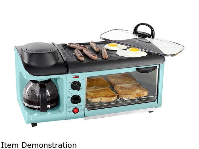 Nostalgia Bset300blue Retro Series 3 In 1 Breakfast