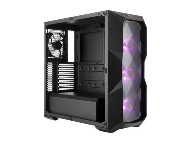Cooler Master MasterBox TD500 ATX Mid Tower w/ 3D Diamond-Cut Design, Front  Intake Vents, Transparent Side Panel & 3 x 120mm RGB Fans w/RGB Controller
