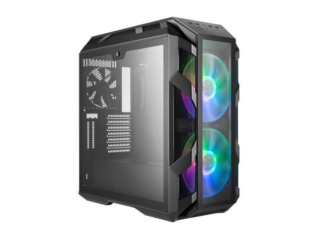 Cooler Master MasterCase H500M ATX Mid-Tower w/ 4x Side Tempered Glass  Panels, Type-C I/O Panel, 2x Vertical GPU Card PCI Slots & 2x 200mm ARGB  Fans