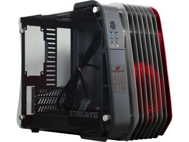 ENERMAX ECB2010R Red Aluminum / Tempered Glass Micro ATX / Mini-ITX Computer Case Standard SFX Type Power Supply