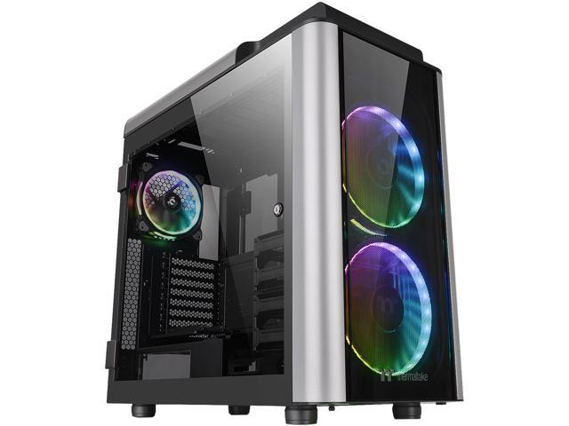 Thermaltake Level 20 Full Tower PC Case Tempered Glass//Single or Dual Loop//Water Cooling//Up to EATX,CA-1P6-00F1WN-00
