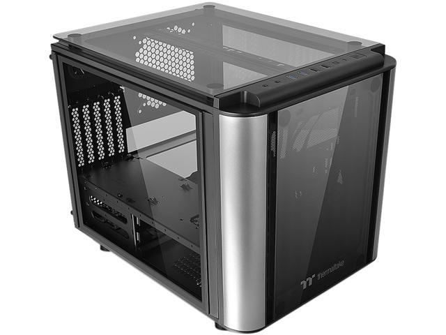 Thermaltake Level 20 Vt Tempered Glass Interchangeable Panel Diy Lcs Chamber Concept Micro Atx Modular Gaming Computer Case Ca 1l2 00s1wn 00