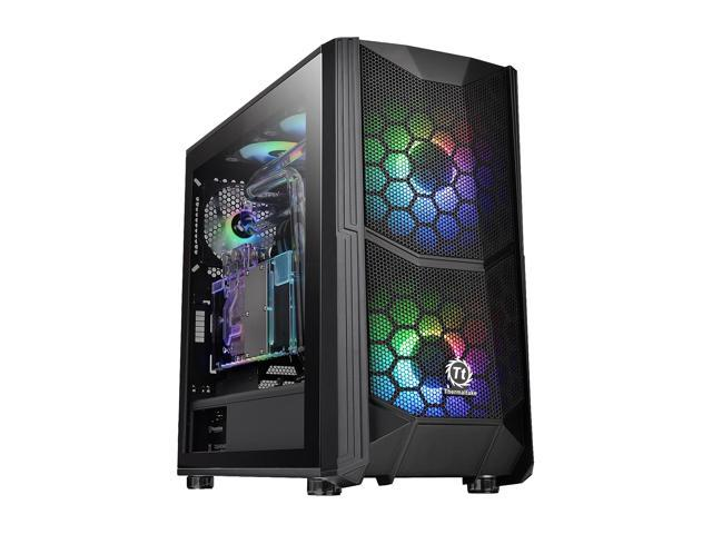 Thermaltake Commander C35 Motherboard Sync ARGB ATX Mid Tower Computer  Chassis with 2x 200mm ARGB 5V Motherboard Sync RGB Front Fans + 1x 120mm  Rear