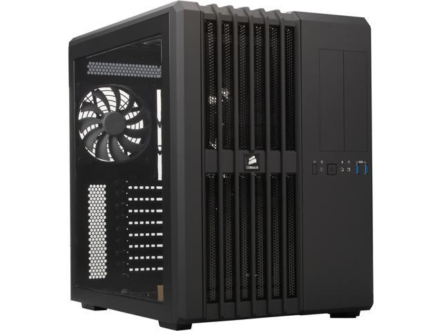 Corsair Carbide Series Air 540 (CC-9011030-WW) Black Steel High Airflow ATX Cube Case Support ATX Power Supply
