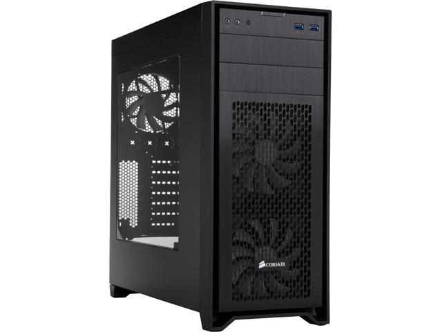Corsair Obsidian Series 450D Black Brushed Aluminum and Steel ATX Mid Tower  Gaming Computer Case - Newegg com