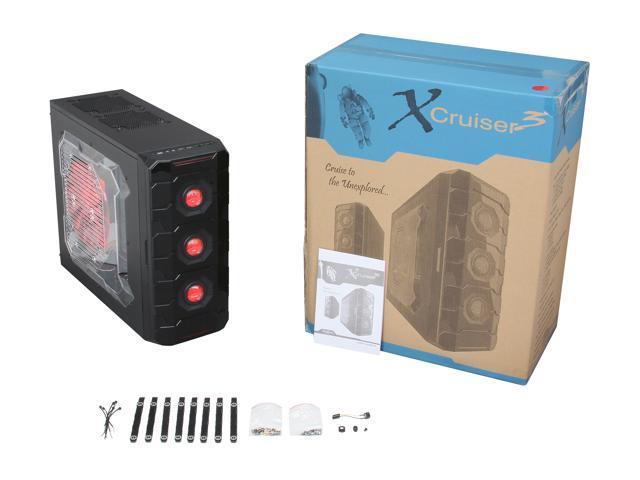 APEVIA X-CRUISER3 X-CRUISER3-RD Black / Red Computer Case w/ Side  Window-Red - Newegg com