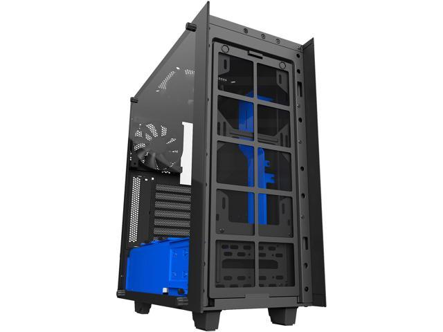NZXT S340 Elite CA-S340W-B5 Black / Blue Tempered glass side panel, Steel,  ABS plastic ATX Mid Tower Computer Case - Newegg com