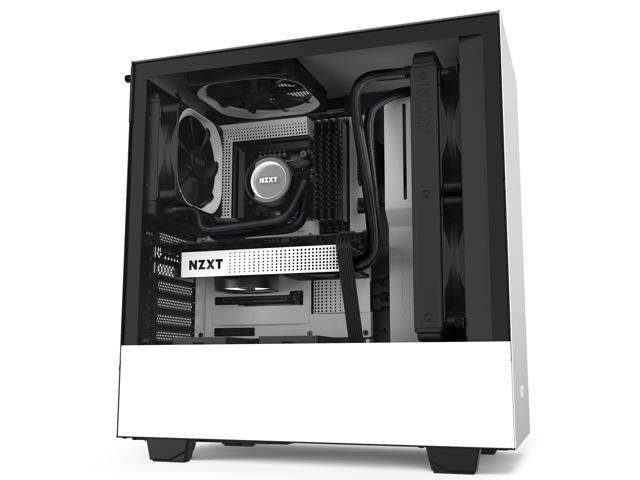 NZXT H510 - Compact ATX Mid-Tower PC Gaming Case - Front I/O USB Type-C  Port - Tempered Glass Side Panel - Cable Management System - Water-Cooling  Ready - Steel Construction - White/Black -