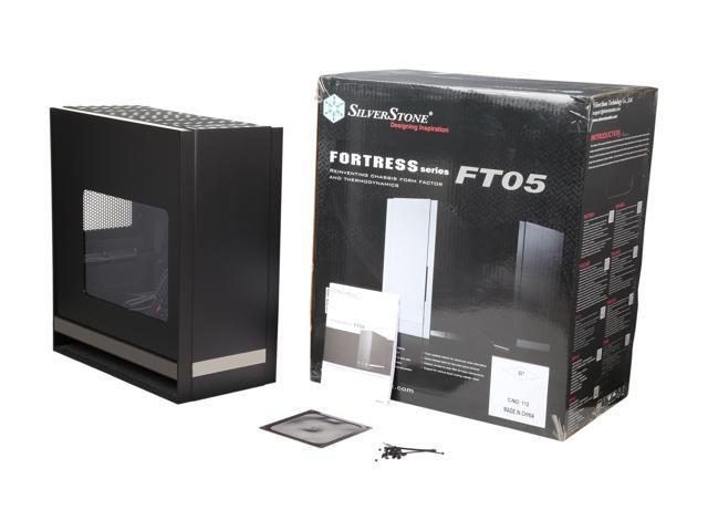 Fortress Series Aluminum//Steel ATX Case Silverstone SST-FT05B-W Black + window