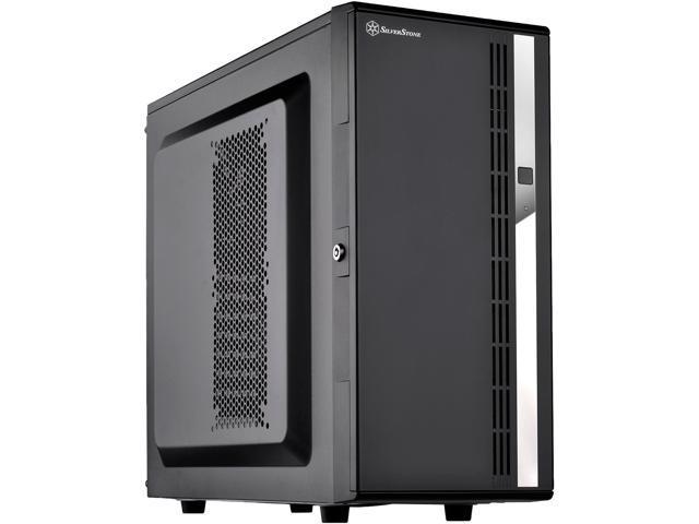 SilverStone Case Storage Series SST CS380 Black Plastic Front Door, Steel  Body ATX Mid