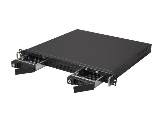 iStarUSA 1U 2X 3.5-Inch Bay Tool-Less Hot swap ITX Chassis