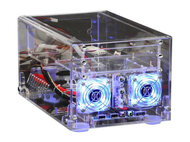 81c72f239fa5 Sunbeam ACMI-P-T Transparent Clear Acrylic Mini-ITX Tower Computer Case  150W Power Supply - Newegg.com