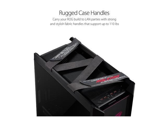ASUS ROG Strix Helios GX601 RGB Mid-Tower Computer Case for up to EATX  Motherboards with USB 3 1 Front Panel, Smoked Tempered Glass, Brushed  Aluminum