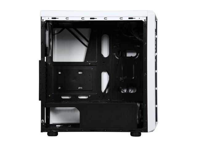 DIYPC DIY-Model X-W-RGB White Steel / Tempered Glass ATX Mid Tower Computer  Case with 2 x RGB LED Ring Fans (Pre-Installed) - Newegg com
