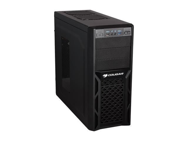 COUGAR Solution Black Steel ATX Mid Tower Computer Case with 12cm COUGAR  TURBINE HYPER-SPIN Bearing Silent Fan and USB 3 0 - Newegg com