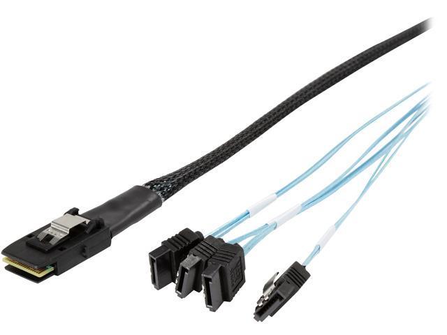 Internal Mini SAS 36pin SFF-8087 Male to 4x SATA 7pin Female Fan-out Cable 3.3FT