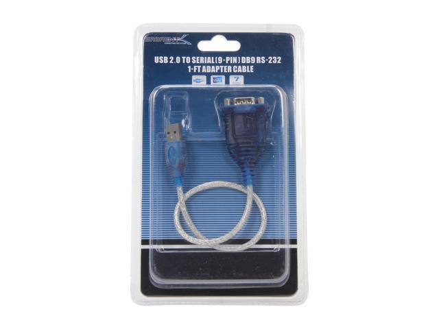 sabrent sbt-usc1m sabrent usb serial db9 cable 1 prolific chipset rs-232 1 ft