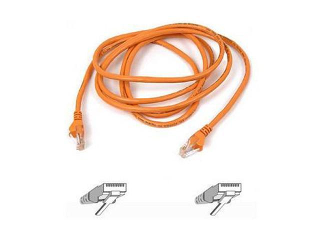 Orange Belkin A3L791-25-ORG-S 25-Feet RJ45 CAT 5E Snagless Molded Patch Cable