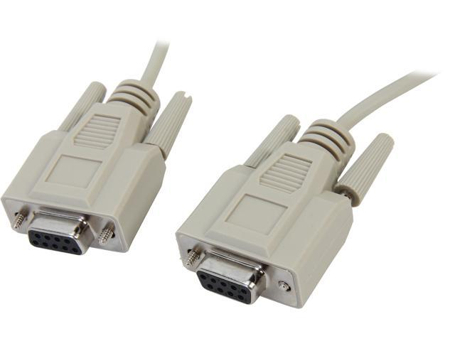 6-25Ft DB9 Female to DB25 Male Null Modem Serial Cable 28AWG Crossover PC Device