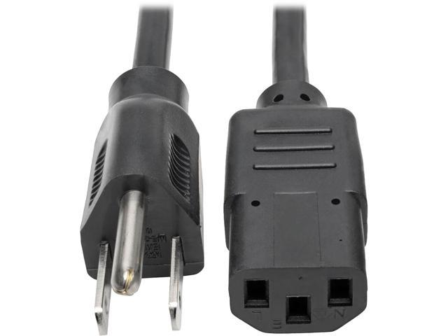 1ft 6ft 15ft Power Cord Cable PC Power Connector NEMA 5-15P to IEC320 C13 18AWG