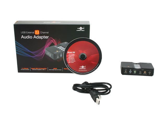 Vantec USB External 7 1 Channel Audio Adapter - Model NBA-200U - Newegg com
