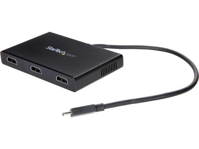 4K 30Hz StarTech.com 2-Port USB-C to HDMI MST Hub MSTCDP122HD Windows and Thunderbolt 3 Compatible Dual Monitor Video Splitter