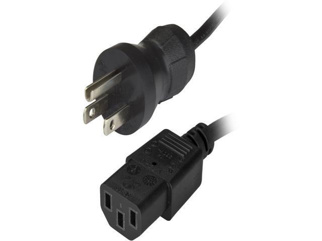 16AWG  Gray 10ft Hospital Computer Power Cord NEMA 5-15P to C-13 Plug