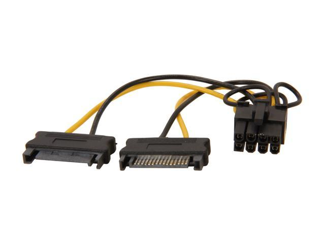 "6/"" Startech SATA Power to 6-Pin PCI Express Video Card Power Cable Adapter"