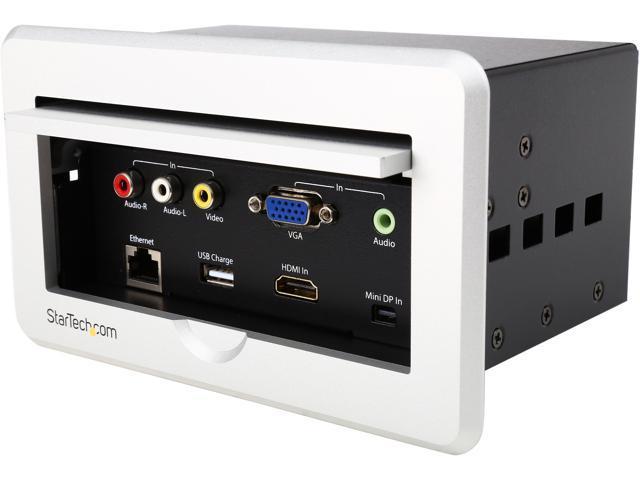 StarTech BOXHDECP Conference Table Connectivity Box HDMI VGA - Conference table data ports hdmi