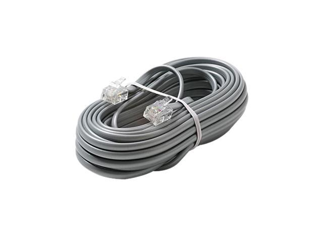 80 FT Feet RJ11 4C Modular Telephone Extension Phone Cord Cable Line Wire Black