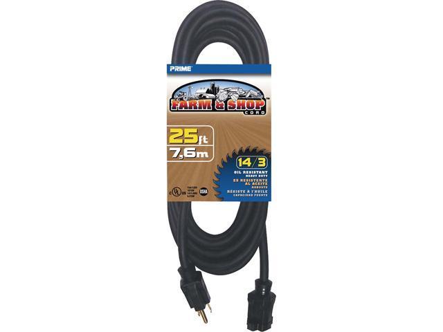 Prime Wire Model EC532725 25 ft. 14/3 SJTOW Farm and Shop Extension ...