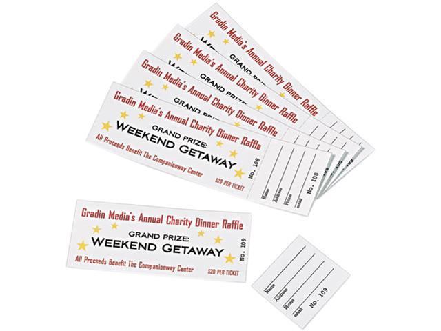 photograph relating to Printable Tickets With Tear Away Stubs identify Avery Printable Tickets w/Tear-Absent Stubs 8 1/2 x 11 White 10/Sheet 20Sheets -