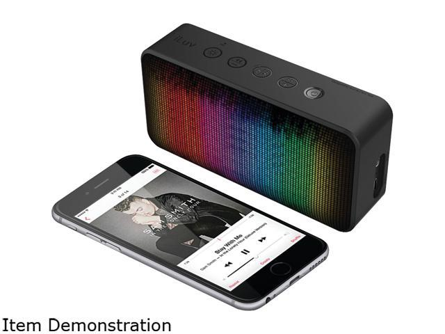 iLuv Aud Mini 6 Party (Color Changing LED Equalizer Portable Bluetooth  Speaker) for Apple iPhone and Samsung - Newegg com