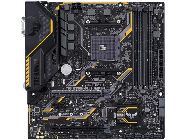 ASUS TUF B350M-PLUS GAMING AM4 AMD B350 SATA 6Gb/s Micro ATX