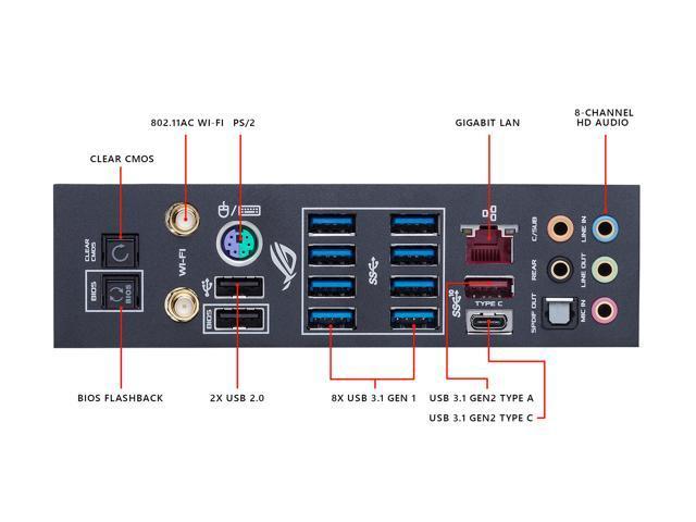 ASUS ROG Crosshair VII Hero (Wi-Fi) AM4 AMD X470 SATA 6Gb/s USB 3 1 ATX AMD  Motherboard - Newegg com