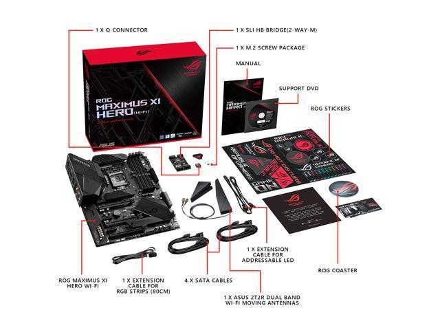 ASUS ROG Maximus XI Hero (Wi-Fi) Z390 Gaming Motherboard LGA1151