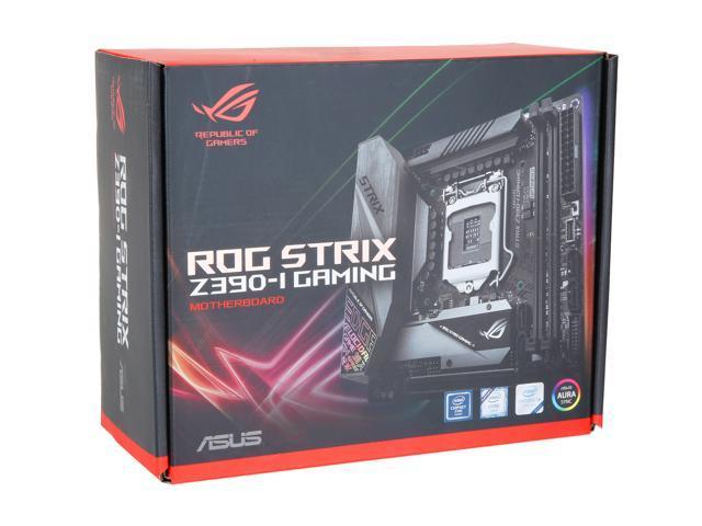 ASUS ROG Strix Z390-I Gaming Motherboard LGA1151 (Intel 8th and 9th Gen)  Mini ITX (mITX) DDR4 DP HDMI M 2 USB 3 1 Gen2 Onboard 802 11 ac Wi-Fi -